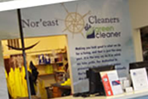 Nor'east Cleaners Wall Environmental Graphic